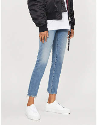 AG Jeans Prima faded cigarette mid-rise cropped jeans