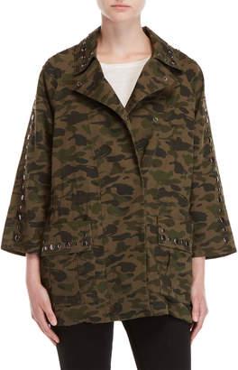 Rebecca Minkoff Miranda Camo Studded Coat