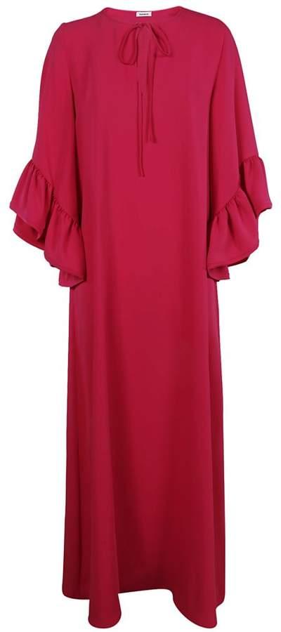 Peplum Cuffed Long Dress