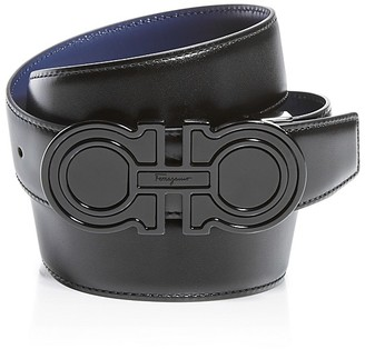 Salvatore Ferragamo Double Gancini Reversible Leather Belt $495 thestylecure.com