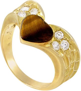Van Cleef & Arpels Heritage  18K 0.30 Ct. Tw. Diamond & Tiger's Eye Ring