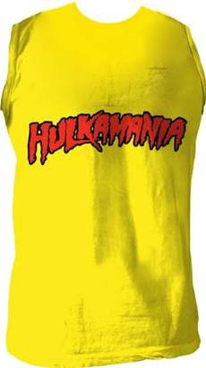 "Hogan Hulk hulkamania"" Sleeveless T-shirt Gold [Apparel] Size:"