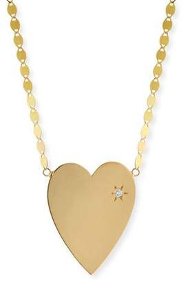 Lana 14k Large Heart Pendant Necklace w/ White Diamond