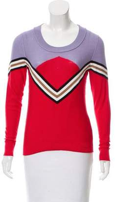 Sonia Rykiel Colorblock Textured Knit Top