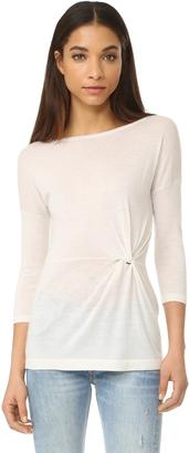 Autumn Cashmere Twist Cashmere Pullover $288 thestylecure.com