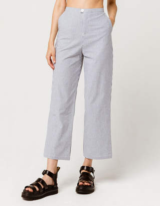 Sky And Sparrow Skinny Stripe Womens Wide Leg Pants