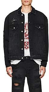 Ksubi Men's Oh G Distressed Denim Oversized Jacket - Black