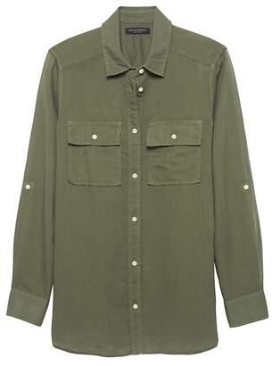 fa372150bc Banana Republic Dillon Classic-Fit Linen-Cotton Utility Shirt