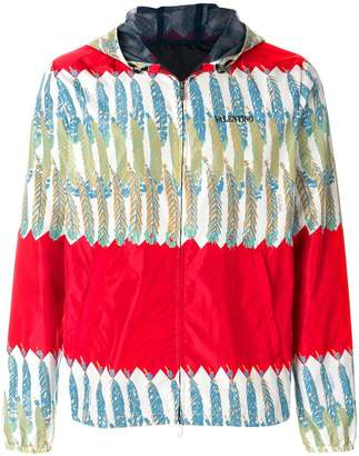 Valentino patterned zipped jacket