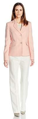 Le Suit Women's Novelty 2 Button Jacket Pant Suit (2)