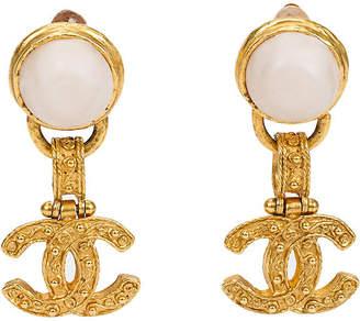 One Kings Lane Vintage Chanel Florentine Pearl Dangle Earrings