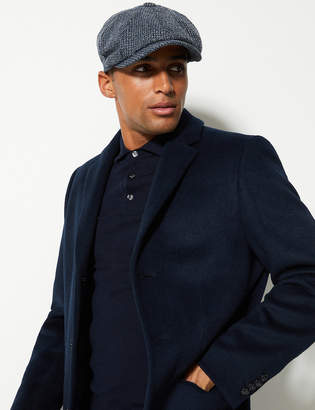 M&S Collection Pure Wool Baker Boy Cap StormwearTM