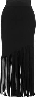 Cushnie Marvella High Waisted Fringe Skirt