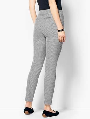 Talbots Cotton Bi-Stretch Pull-On Skinny Ankle Pant-Mini Check