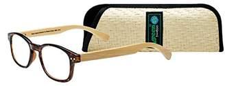 SAV Eyewear (Select-A-Vision) Bamboo Eco Friendly Round Reading Glasses 2550