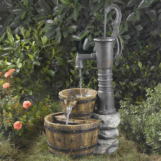 Jeco Inc. Resin/Fiberglass Old Fashioned Pump Water Fountain
