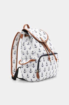 Ardene Nautical Canvas Backpack