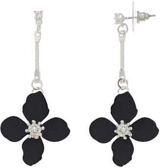 Lauren Conrad Navy Floral Drop Earrings