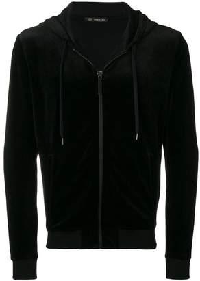 Versace zipped hooded jacket
