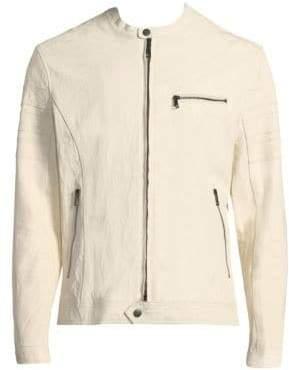 John Varvatos Slim Leather Moto Jacket