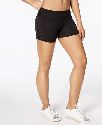 Material Girl Active Juniors' Mesh-Inset Shorts, Created for Macy's