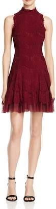 Aqua Mock-Neck Lace Dress - 100% Exclusive