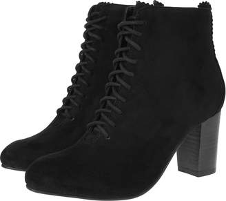 5475afd37125 Monsoon Bali Black Lace Up Suede Ankle Boots