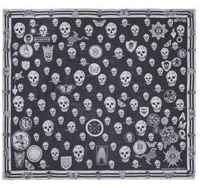 Alexander McQueenAlexander McQueen Skull badge silk scarf