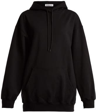 Logo-print cotton hooded sweatshirt