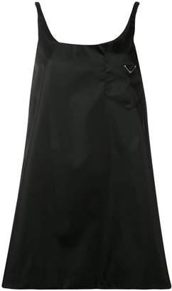 Prada triangle logo mini dress