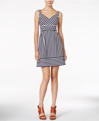 Maison Jules Striped A-Line Dress, Only at Macy's $79.50 thestylecure.com
