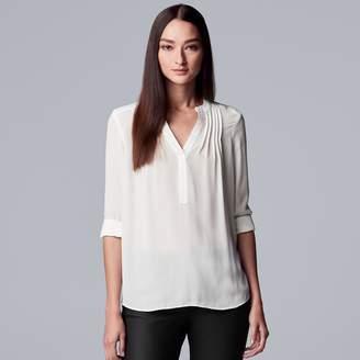 Vera Wang Women's Simply Vera Pintuck Crepe Blouse