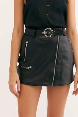 Understated Leather Moto Leather Mini Skirt