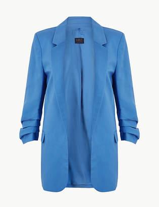 Marks and Spencer Linen Blend Open Front Blazer