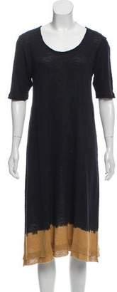 Christina Lehr Dip-Dye Short Sleeve Dress