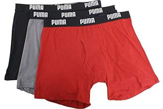 Puma Men's 3 Pack Cotton Boxer Briefs