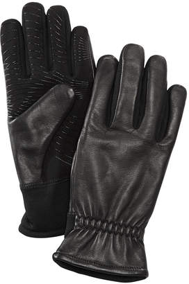 URBAN RESEARCH Men Gathered-Wrist Leather Gloves