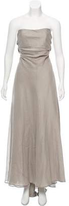 Peter Som Strapless Maxi Dress