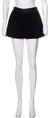 Alice + Olivia Mid-Rise Virgin Wool Shorts