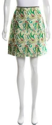 Prada Brocade Mini Skirt