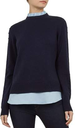 79de37e93db0 Ted Baker Lissiah Bobble Layered-Look Sweater