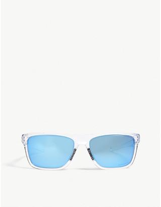 Oakley Mens Clear Modern Holston Square-Frame Sunglasses
