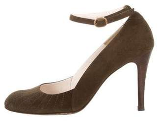 Marc by Marc Jacobs Round-Toe Ankle Strap Pumps