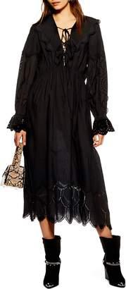 Topshop Broderie Midi Dress