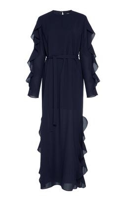 GOEN.J Ruffled Long Sleeve Dress
