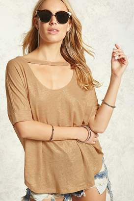 Forever 21 Contemporary Cutout Tee
