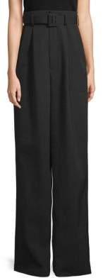 MS MIN Wide-Leg Wool Pants