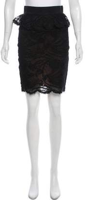 Emilio Pucci Lace Knee-Length Skirt