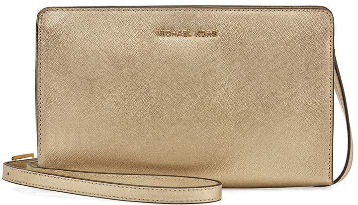 Michael Kors Large Jet Set Travel Convertible Crossbody -Plae Gold - ONE COLOR - STYLE