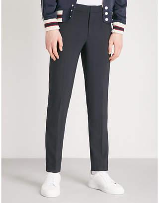 Sandro Jupiter wool-blend rib trim trousers